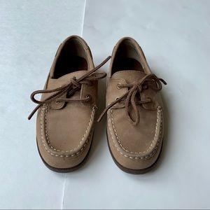 Lands End 2 Brown Loafer Boat Shoes Moccasins